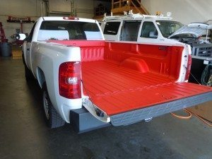 White Truck Red Liner
